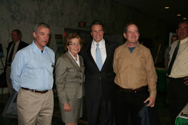 Jim and dave with Cuomo and Little