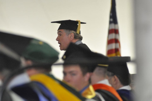 Jim Herman speaking at Paul Smith's Commencement 2014